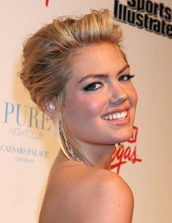 Kate Upton Voluminous Bangs Hairstyle