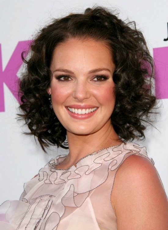 Katherine Heigl Curly Bob
