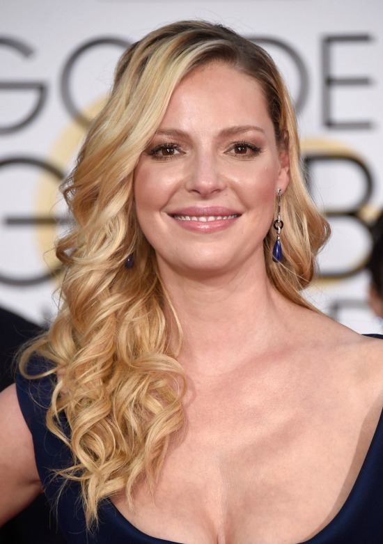 Katherine Heigl Side Swept Long Layered Hairstyle