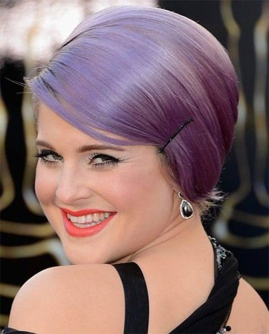 Kelly Osbourne Sleek Bobby Pinned Updo