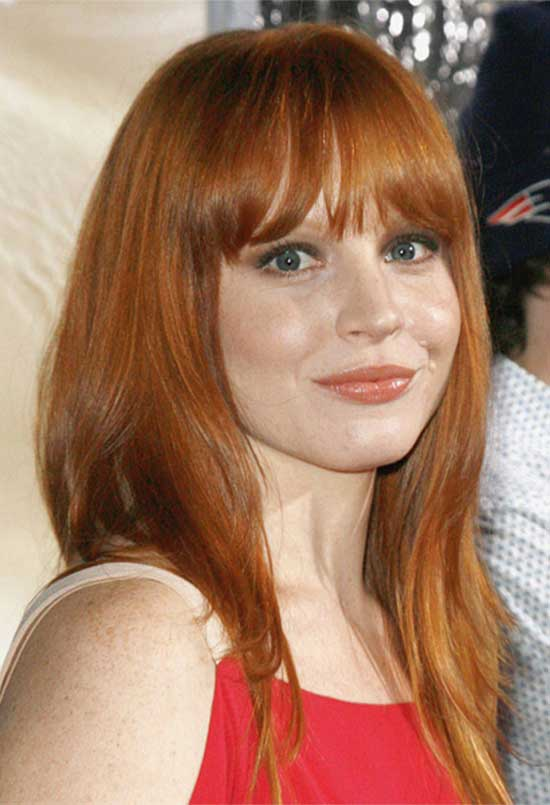 Lauren Ambrose bangs-with-middle-part