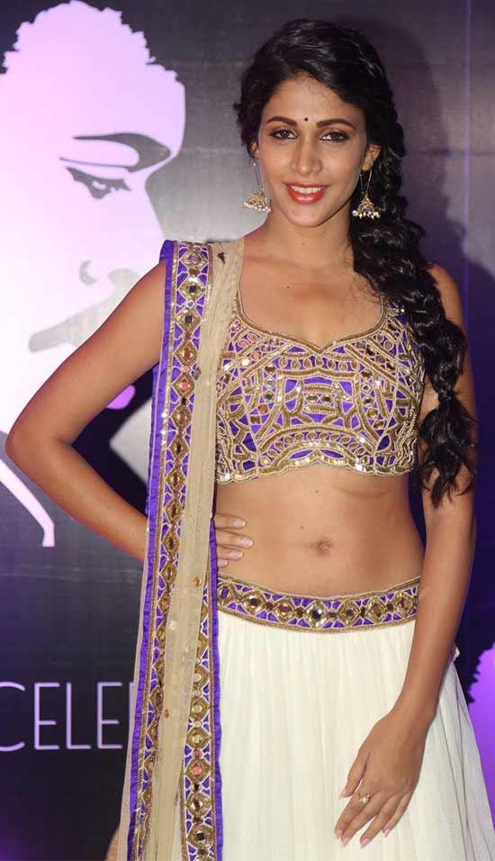 Lavanya-Tripathi-In-White-Skirt-With-Blue-Choli