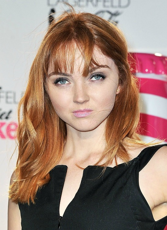Lily Cole Medium Hair with Bangs