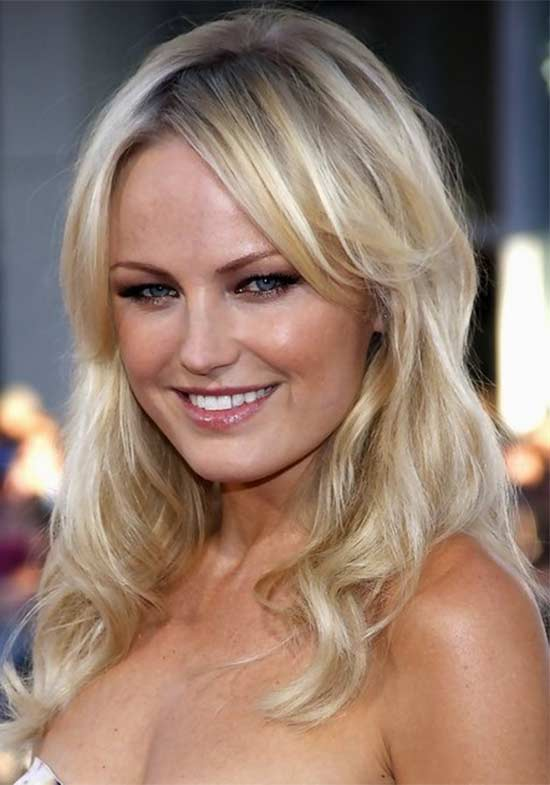 Malin Akerman Long-Hairstyle-Wavy-Hair-with-Side-Part