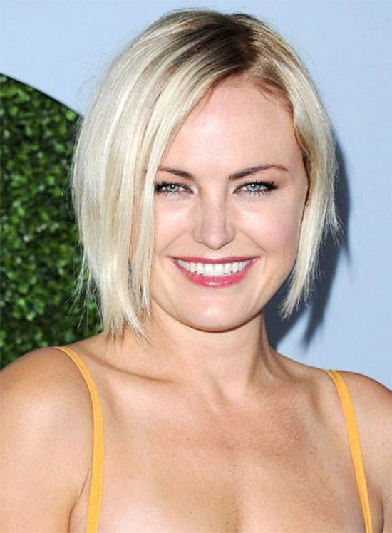 Malin Akerman Medium,-Blonde,-Edgy,-Bob-Hairstyle
