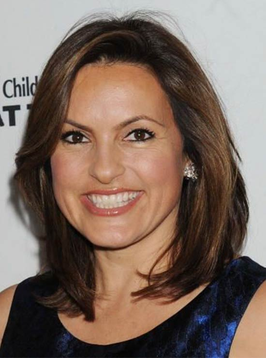 Mariska Hargitay shoulder length hairstyle