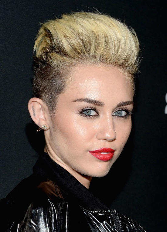 Miley Cyrus Side Shaved Short Hair Cut