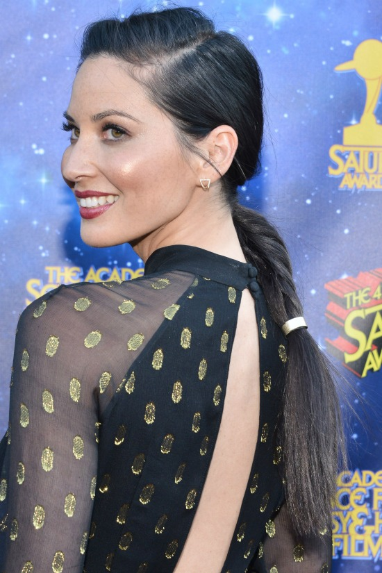 Olivia Munn Braided Hairstyle