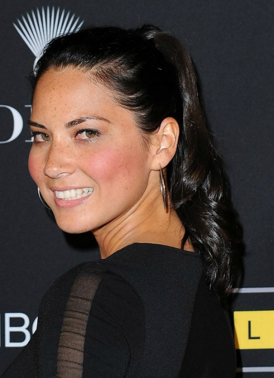 Olivia Munn Long Ponytail