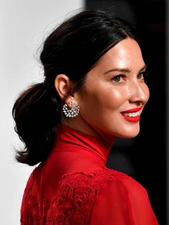 Olivia Munn Medium Ponytail Hairstyle