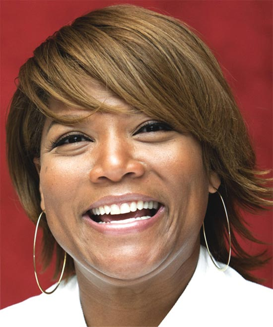 Queen Latifah Short Straight hair