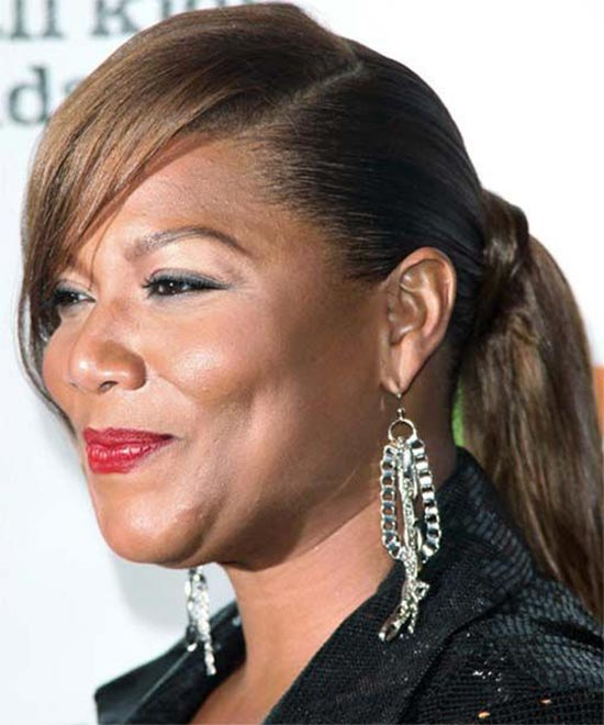 Queen Latifah Updo Long Straight Formal