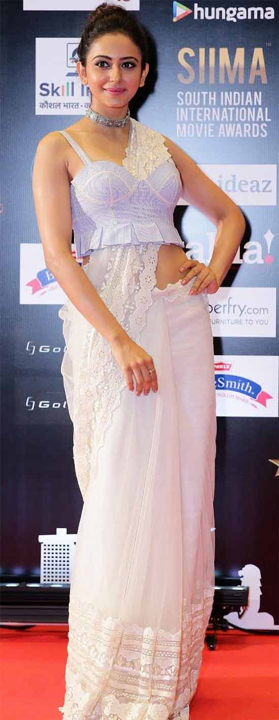 Rakul Preet In Designer White Dress