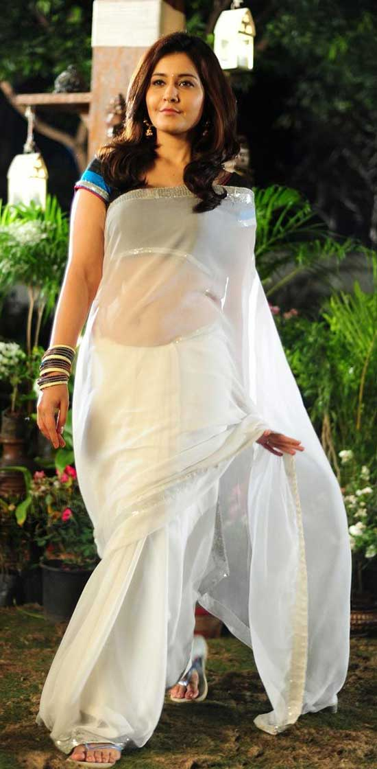 Rashi-Khanna-In-White-Transparent-Saree