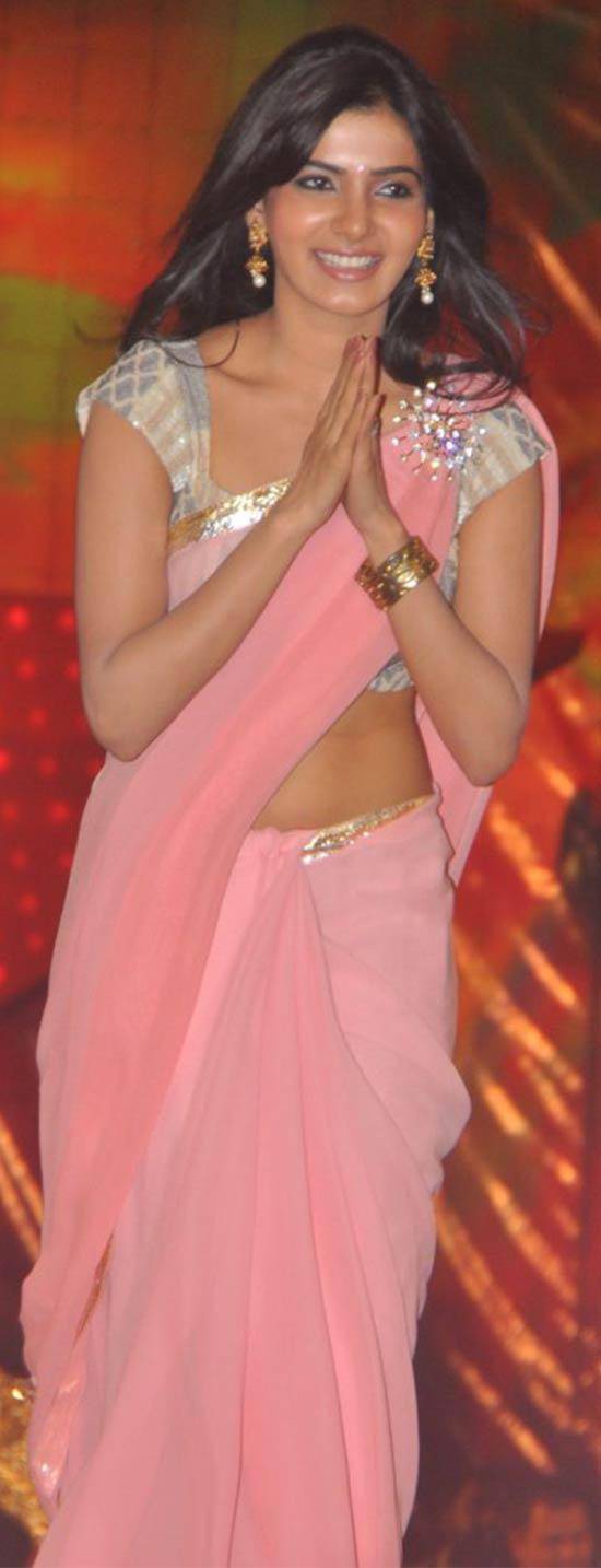 Samantha-In-Georgette-Pink-Saree
