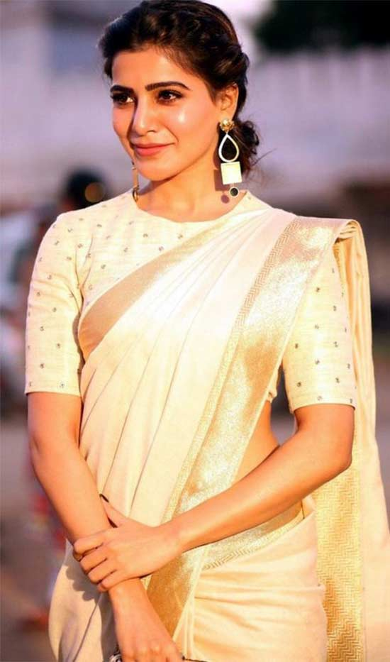 Samantha-In-Kerala-Saree