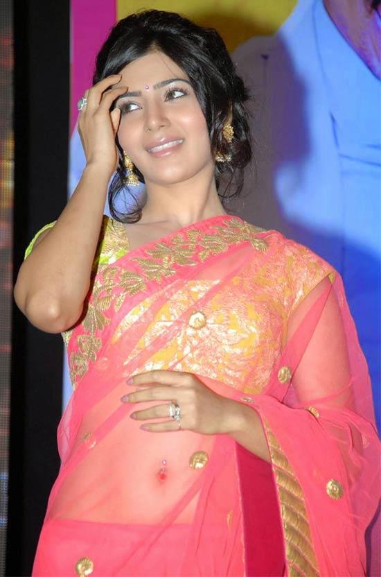 Samantha-In-Pink-Net-Saree