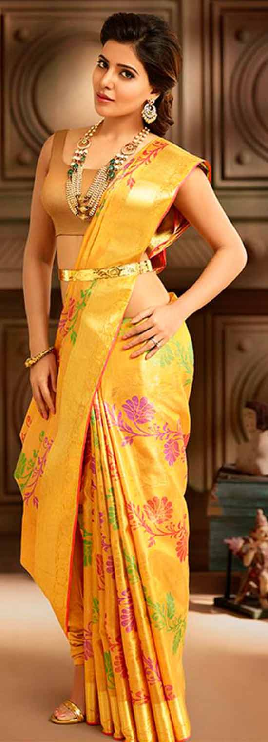 Samantha-Ruth-Prabhu-Floral-Pattu-Saree