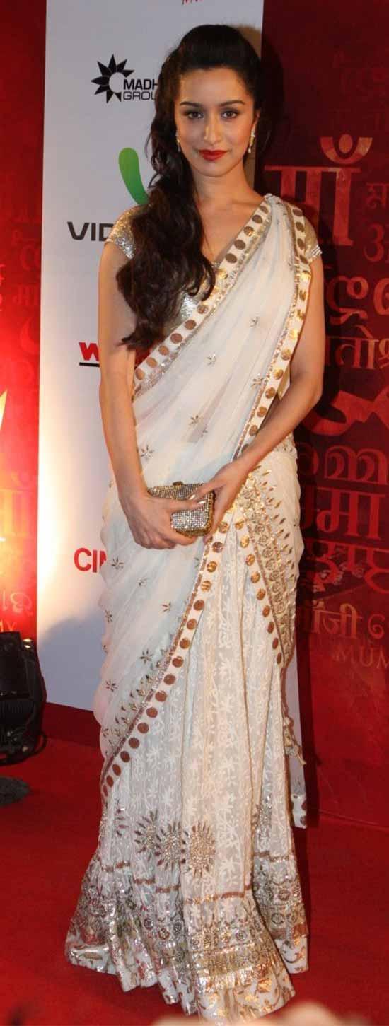 Shraddha Kapoor In White Saree