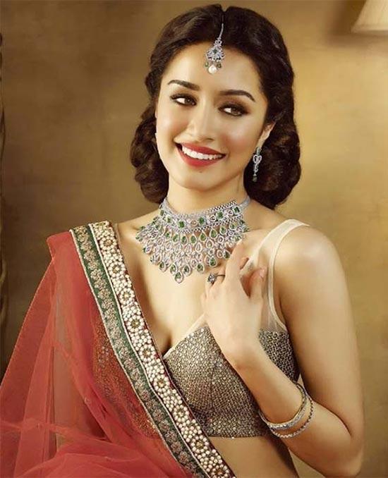 Shraddha Kapoor Peach Designer Saree