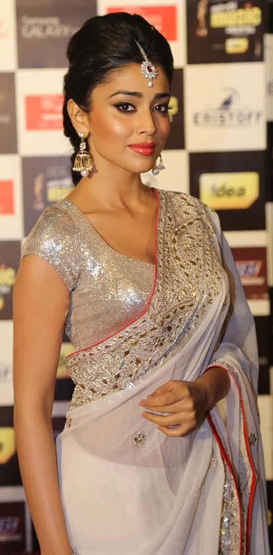 Shriya-Saran-In-White-Transparent-Saree