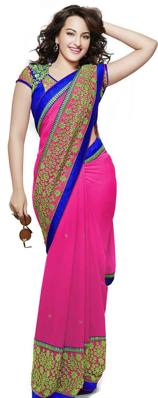 Sonakshi-Sinha-In-Embroidery-Party-Wear-Saree