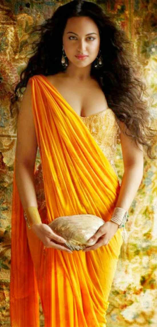 Sonakshi-Sinha-In-Yellow-Saree