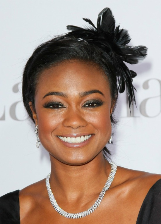 Tatyana Ali Hairstyle with Feather Style
