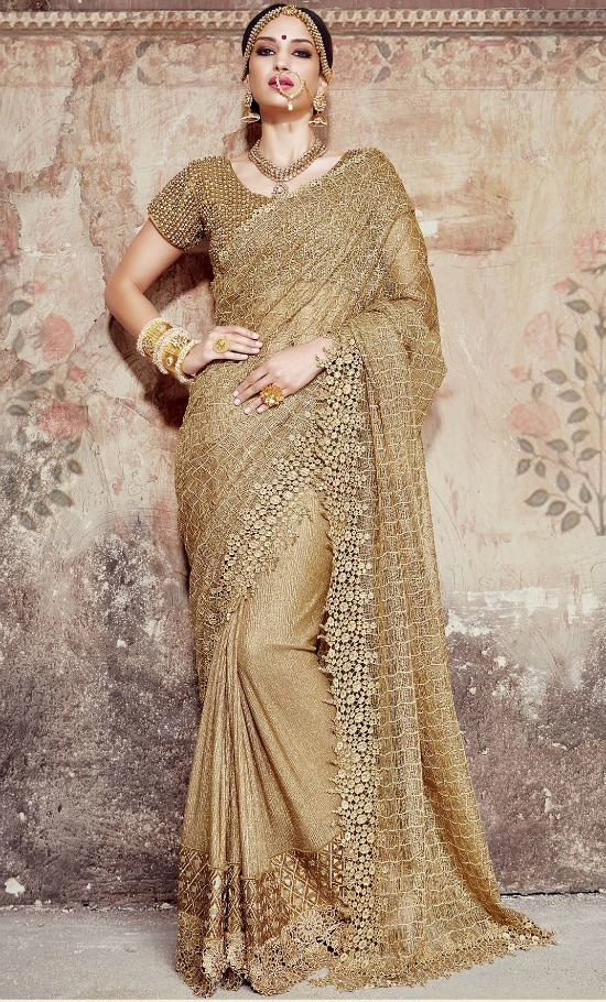23 Amazing Blouse Designs For Golden Sarees