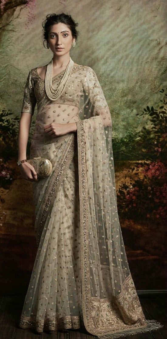 Ice Green Sabyasachi Saree