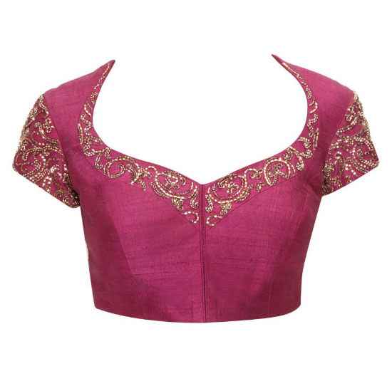 Plum Embroidered Blouse