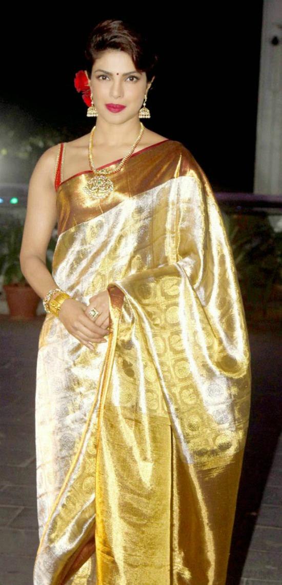 Actress Priyanka Chopra In Kanchivaram Silk Saree