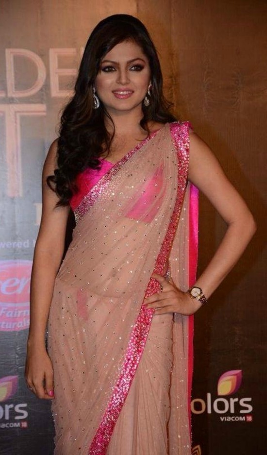 Drashti Dhami Beigh Bollywood Replica Saree