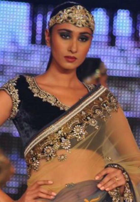 Kundan Work Short Sleeve Blouse For Net Saree