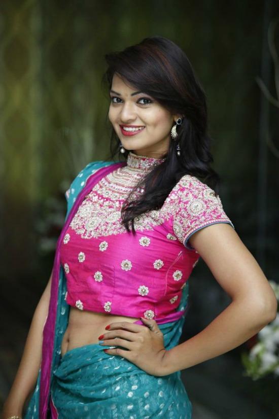 17.Pink Maharani Short Hand Sleeve Blouse: