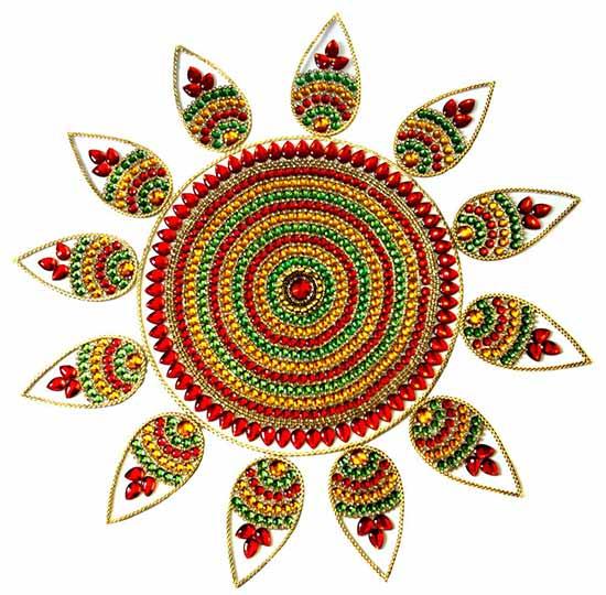 27 best kundan rangoli designs for your inspiration
