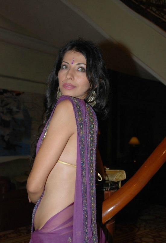 Vida Samadzai Hot In Low Waist Saree