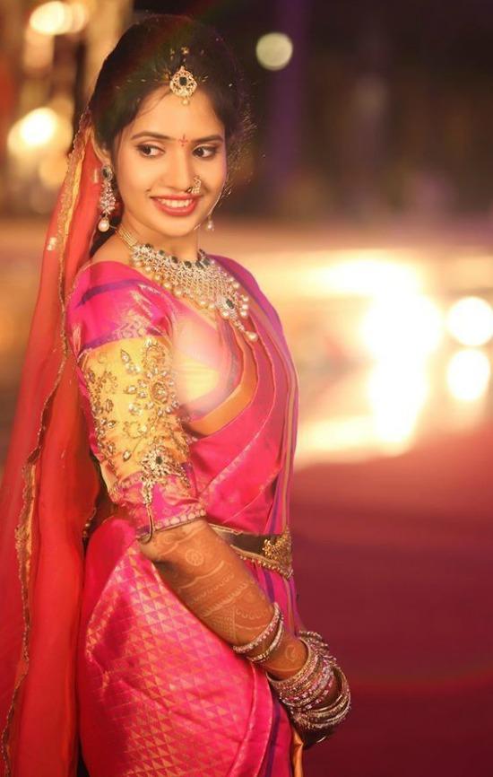 Kundan And Stone Work Pattu Wedding Blouse