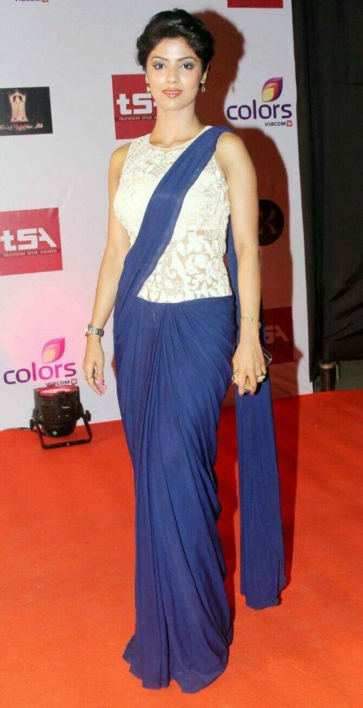 Sayantani Ghosh Lace Logn Blouse with U shape Neck