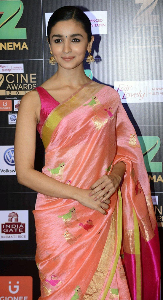 Alia-Bhatt-In-Pink-Saree
