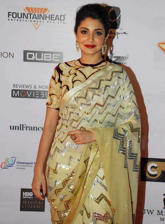 Anushka Sharma In Yellow Saree