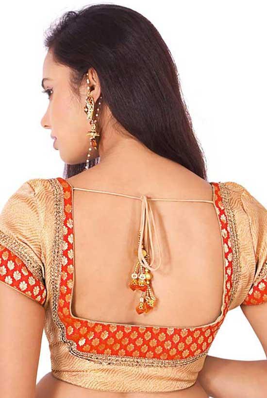 Box shaped patchwork blouse back design