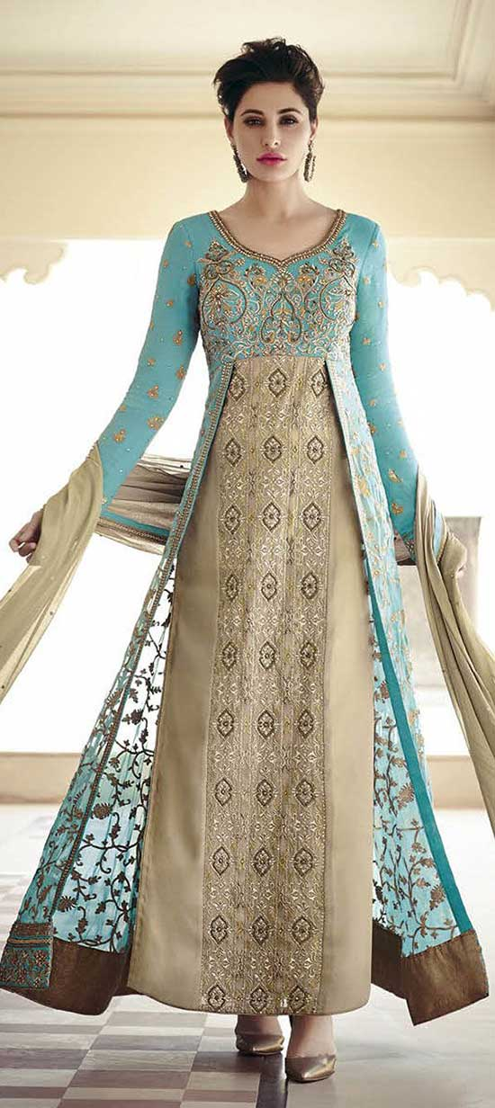 Brown Color Party Wear Anarkali