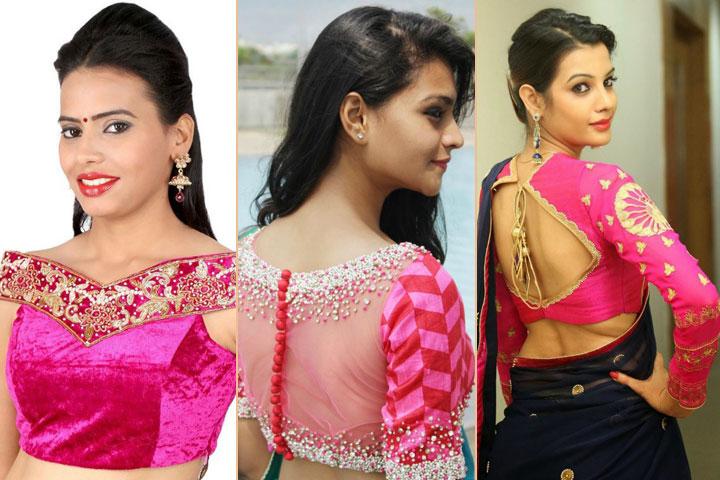 26 Trendy Celebrity Pink Blouse Designs