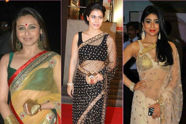 21 Amazing Celebrity transparent sarees
