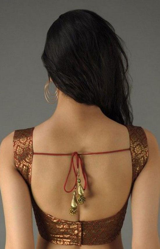 Cocktail saree blouse designs