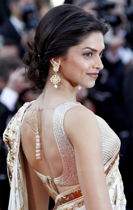 Deepika-Padukone-In-Rohit-Bhal-Saree-At-Cannes