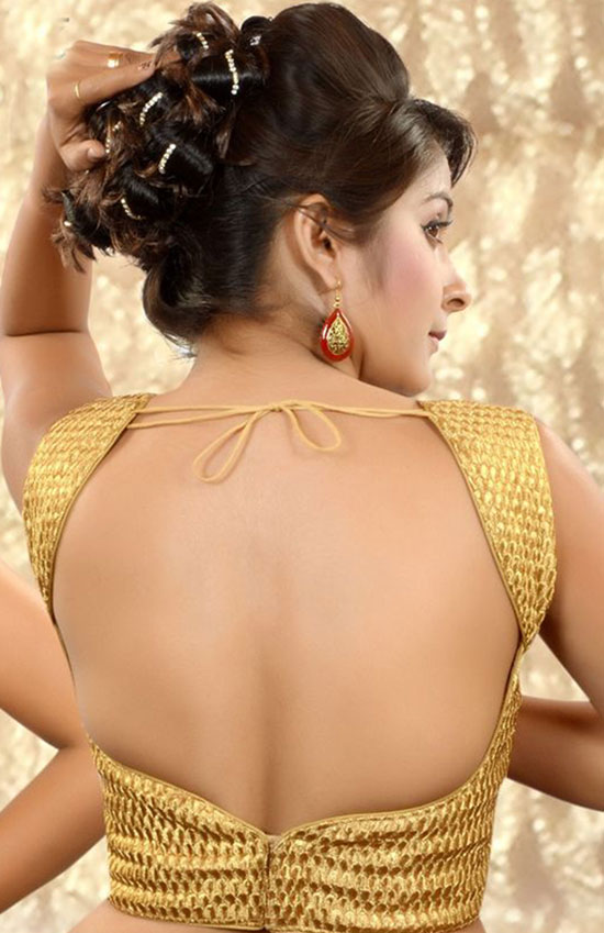 Gold-combo-raw-silk-Sequiens-worked-blouse
