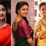 Top 15 Beautiful Pics of Keerthi Suresh in Saree