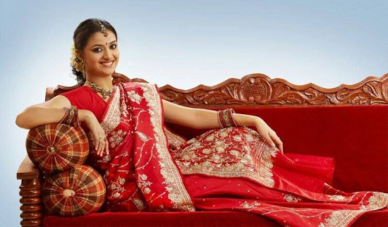 Keerthy Suresh in Red Saree